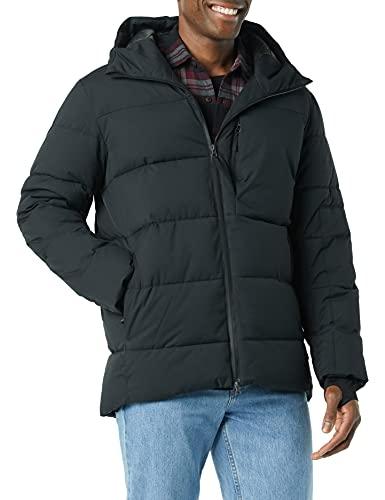 Amazon Essentials Chaqueta de Nieve de Gran tamaño Resistente al Agua con Capucha, Negro, XXL