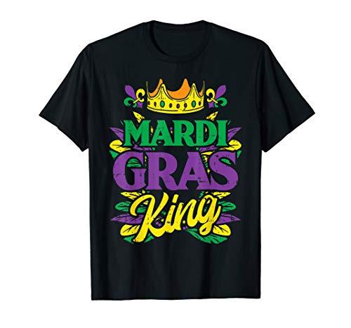 Herren Mardi Gras King Crown Funny Mardi Gras Carnival Men Boys T-Shirt