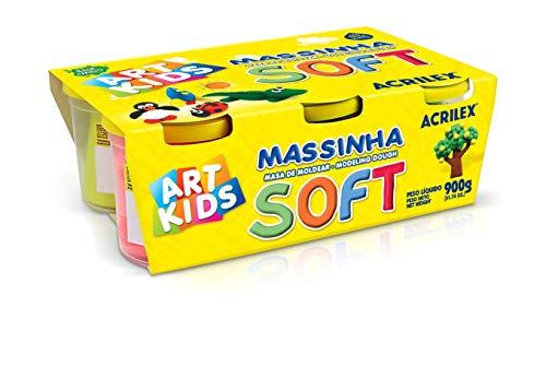 Massinha Modelar Soft com 6 Potes Acrilex