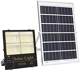 G&T Solar light Floodlight White + Warm white change colour LED 200Watt-Display - Remote Control - Waterproof - For Garden...