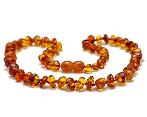 New Baltic Amber Necklace, Handmade Polished Cognac Amber Beads, 50% Richer & Higher in Value, 100% Natural Authentic Certified (41.50)