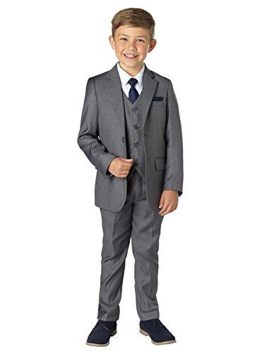 Paisley of London Jungen Anzug Gr. 7 Jahre, grau