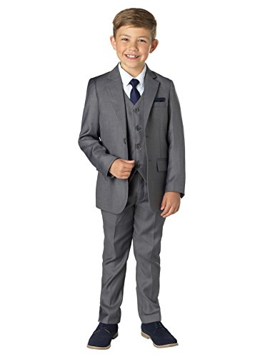 Paisley of London Jungen Anzug Gr. 11 Jahre, grau