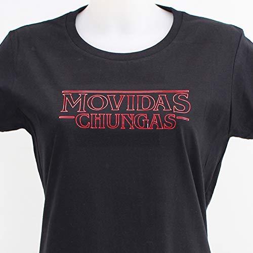 Movidas Chungas, camiseta negra chica: Amazon.es: Handmade