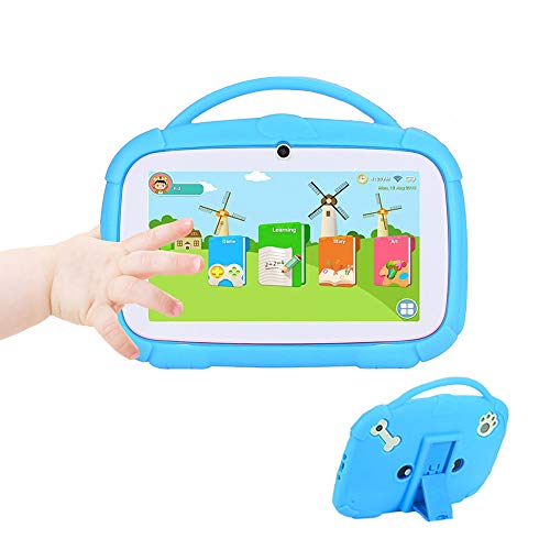 MIALX Tableta para Niños 7'HD | Quad Core Android 9.0 16GB | Cámara Dual WiFi Bluetooth | Control Parental Y Software para Niños Preinstalado | Tableta PC para Juegos Educativos con Estuche