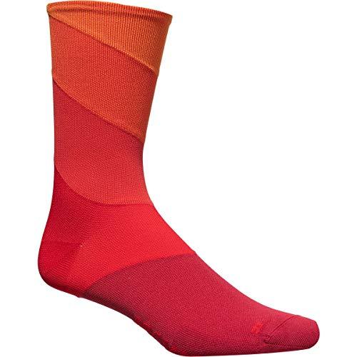 MAVIC Graphic Stripes Fahrrad Socken rot 2020: Größe: L (43-46)
