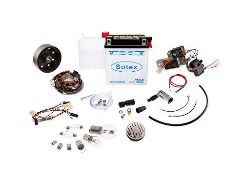 VAPE Set: Umrüstsatz VAPE auf 12V, Magnete vergossen (mit Batterie, Hupe und Leuchtmittel) - Simson KR51/1 Schwalbe, KR51/2 Schwalbe