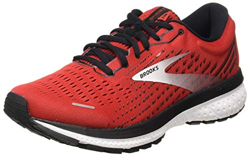 Brooks Herren Ghost 13 Laufschuhe, Highriskred Black White, 45.5 EU