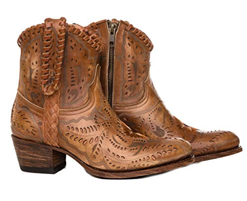 Sendra Boots Ażurowe i haftowane botki western 14200 DEBORA OLIMPIA CALADOS (36 EU, brązowy)