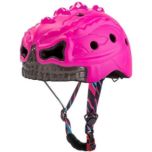 Feee Bike Helmet for Kids Cartoon Skating Helmet Safety Anti-Hair Sun Protection Light Child Protection for Earthquakes Bike Helmet,Pink
