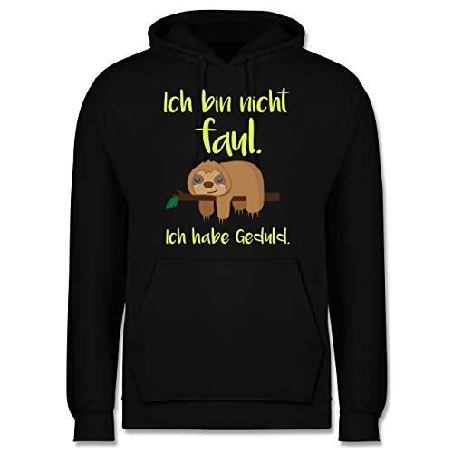 Shirtracer Sprüche - Ich Bin Nicht faul farbig - L - Schwarz - Herren Pullover faul - JH001 - Herren Hoodie und Kapuzenpullover für Männer