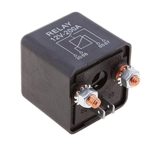 B Blesiya 12v 200a Relé de Interruptor de Relé de 4 Polos para Vehículos de Motocicleta 1 Pieza