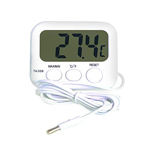 ZHITING Termómetro Digital TA358A Refrigerador de alta Precisión Tanque de peces Medidor Electrónico del Hogar Medidor de Temperatura del agua con Sensor de Sonda de 1.5M