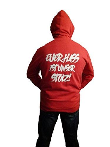 shirts&nerds Euer HASS ist unser Stolz! - Kapuzenjacke München Fussball Fan Bayern (S)