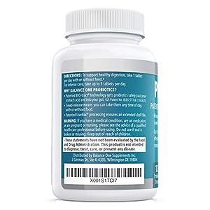 Balance ONE Probiotic - Probiotics for Gut Health and Digestion - Time-Release, Shelf Stable - 15 Billion CFU Probiotic with 12 Strains - Lactobacillus Plantarum, Acidophilus - 2 Month Supply
