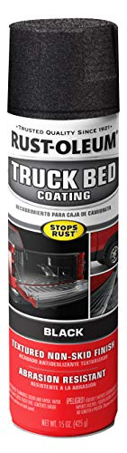 Rust-Oleum 248914 Truck Bed Coating Spray, 15 oz, Black