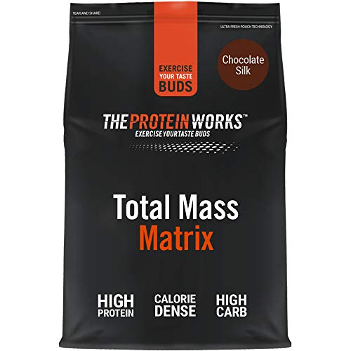 THE PROTEIN WORKS Total Mass Matrix | Mass Gainer | Calorie Dense Weight Gainer | Protein Powder | Chocolate Silk | 5 Kg