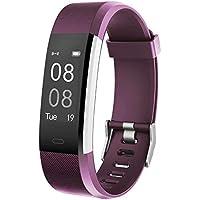 YAMAY Pulsera Actividad con Pulsómetro Mujer Hombre, Monitor de Actividad Deportiva, Ritmo Cardíaco, Impermeable IP67, Reloj Fitness, smartwatch con Podómetro, Color Púrpura