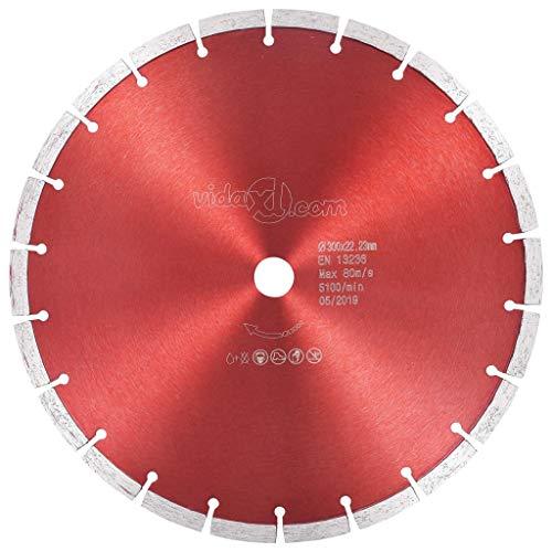 vidaXL Disco de Corte de Diamante Amoladora Hoja de Sierra para Hormigón Armado Granito Corte Piedra Natural Ladrillo Acero 300 mm