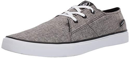 Volcom Herren Lo Fi Fashion Sneaker Skate Schuh, Grau (Heather Black), 38 EU
