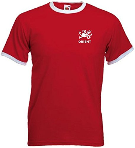 Leyton Orient FC Retro Style Adult Football Team T-Shirt (Large) Red//White