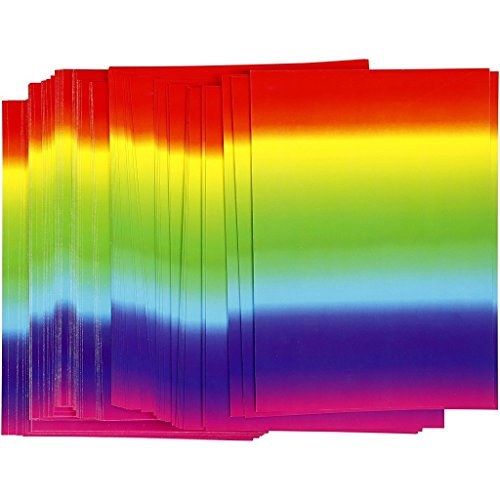 CREATIV DISCOUNT NEU Regenbogen-Papier, A4, 180 g, 100 Blatt
