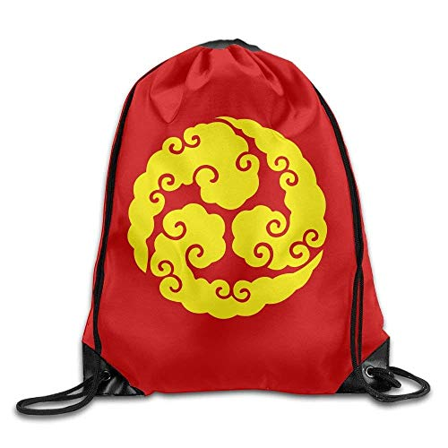 ZHIZIQIU Outdoor Sports Team Drawstring Bag Gym Bags Casual Daypacks - (Yellow Cloud Circle Red) -