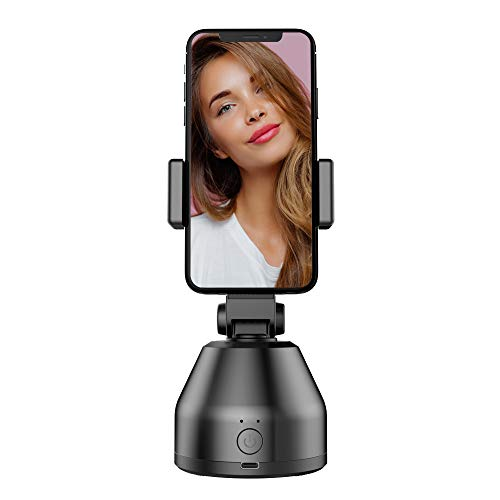 Smartphone Gimbal Stabilisator, 360 ° Drehbarer Bluetooth Selfie Stick Stativ,Smart Tracking Holder, Auto Face Object Tracking Kamera Telefonhalterung nach Aufnahme der Telefon Vlog Kamerahalterung