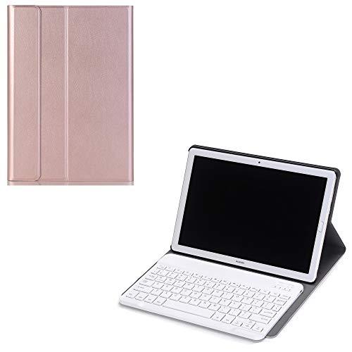 J&H Huawei MediaPad T3 10 (9.6'') Funda para Teclado, Huawei MediaPad T3 10 (9.6'') Funda de Piel sintética, Teclado Bluetooth inalámbrico para Huawei MediaPad T3 10 (9.6