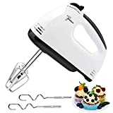 Electric Hand Mixer, 7-Speed Lightweight Hand Whisk, Food Stand Mixer for Home Kitchen Baking Cake Food Beater, with 2 Beaters, 2 Dough Hooks