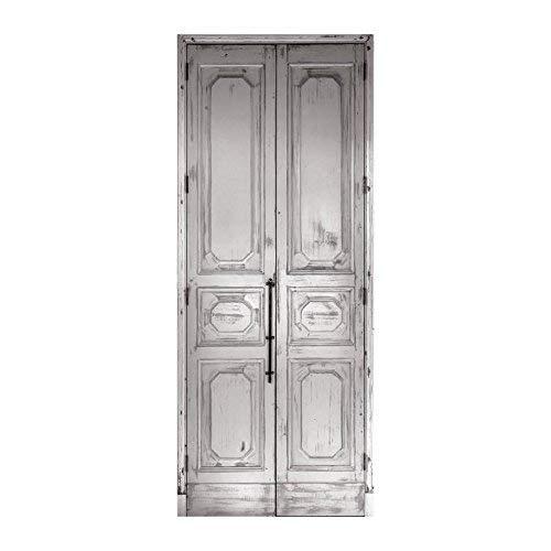 Trompe l'oeil porte Adhésif 141055 Décoration Murale, Polyvinyle, Blanc, 83 x 0,1 x 204 cm
