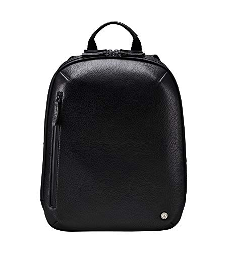 OSPREY LONDON The Vince Black Leather Backpack Rucksack