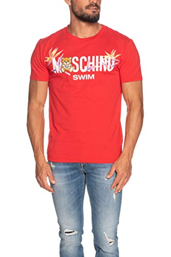 Moschino Swim Palm Teddy T Shirt in Red rosso L