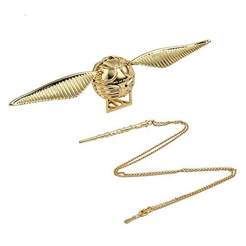WYDA Caja de Anillo de Harry Potter Golden Snitch Caja de joyería Creativa, propuesta/cumpleaños (Color : Golden Upgrade Style)