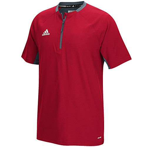 adidas Mens Fielder's Choice Cage Jacket, Power Red/Onix Grey, Small
