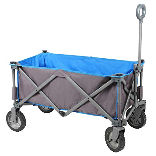 PORTAL Collapsible Folding Utility Wagon Quad Compact Outdoor Garden Camping Cart with Removable...