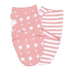 Lilly and Ben® Baby Swaddle Wrap Manta Envolvente - S o L - Saco-s De Dormir Bebe-s Recien Nacido-s Mantas Arrullo - Set 2