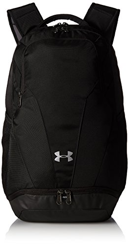 Under Armour Adult Team Hustle 3.0 Backpack , Black (001)/Silver , One Size Fits All