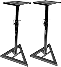 AxcessAbles SMS-101 Heavy Duty Studio Monitor Speaker Stands for Recording Studio, Home Audio Speakers, DJs. Compatible with JBL, Yamaha HS, KRK Rokit Monitors