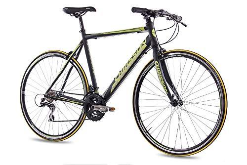 CHRISSON 28 Zoll Rennrad Fitnessrad AIRWICK 2015 mit 24G ACERA schwarz, Rahmengröße:53cm