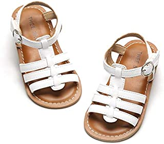 THEE BRON Girl's Toddler/Little Kid Classic Sandals Flat Shoes
