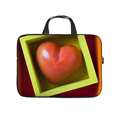 Rood hart In Doos 10 Inch Laptop Sleeve Case Beschermende Cover Draagtas Voor 9.7