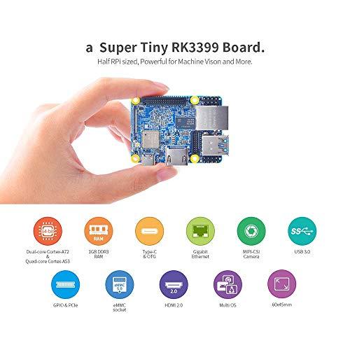 youyeetoo NanoPi NEO4 + Kopf sinken mit 1 GB LPDDR3 Rockchip RK3399 ARM, Unterstützung Android 7.1 & 8.1