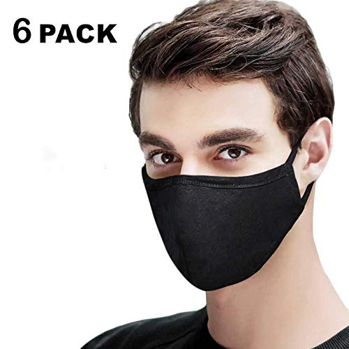Buy Cheap 6 Pack Cotton Mouth Màsks, Anti Dust Air Pollution Face Mouth Màsk, Unisex, Washable, Re...