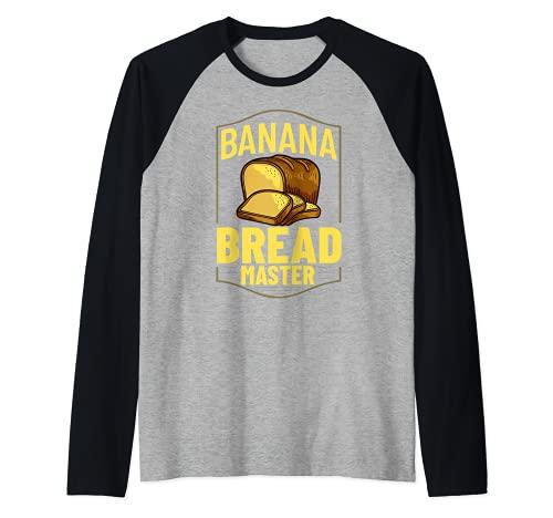 Pan de plátano Receta de Chocolate Chip Nueces Veg Camiseta Manga Raglan