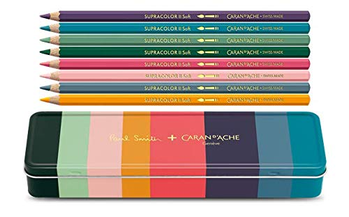 Caran d'Ache Paul Smith Supracolor Matite - Set di 8 colori