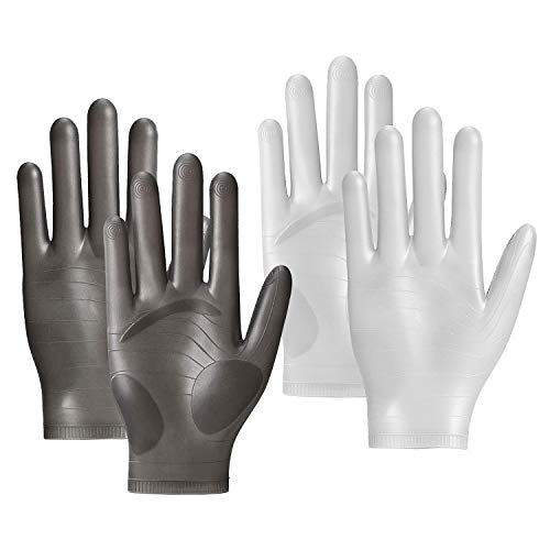 Chin.Sweety 2Pairs Silicone Gloves for Epoxy Resin Casting(Black+White)