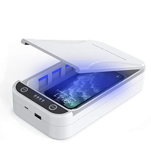 UV Handy Sterilisator - Handy Desinfektionsmittel Portable Handy Reiniger Box mit Aromatherapie Funktion Smartphone Desinfektion für iPhone Android Handys Zahnbürste Schmuck Uhren
