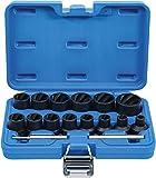 BGS 5269 | Juego de llaves de vaso especiales / extractores de tornillos | entrada 12,5 mm (1/2') | 8 - 27 mm | 16 piezas