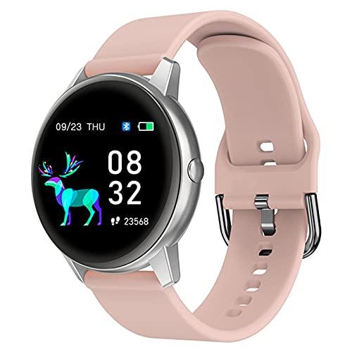 YDK R3 Reloj Inteligente De Hombres Y Mujeres, Reloj De Fitness Bluetooth A Prueba De Táctiles De 1.3 Pulgadas, Ritmo Cardíaco/Reloj De Monitoreo del Sueño para Android iOS,E